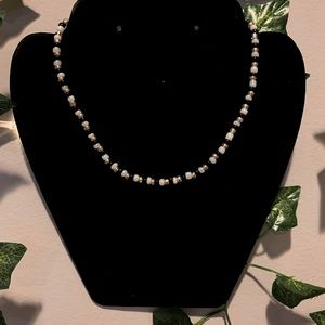☆ Black, White and Gold Seed Bead Choker ☆